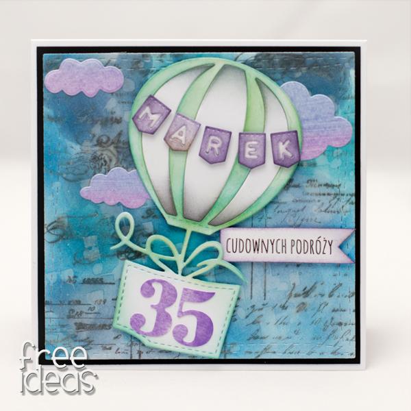 kartka z balonem