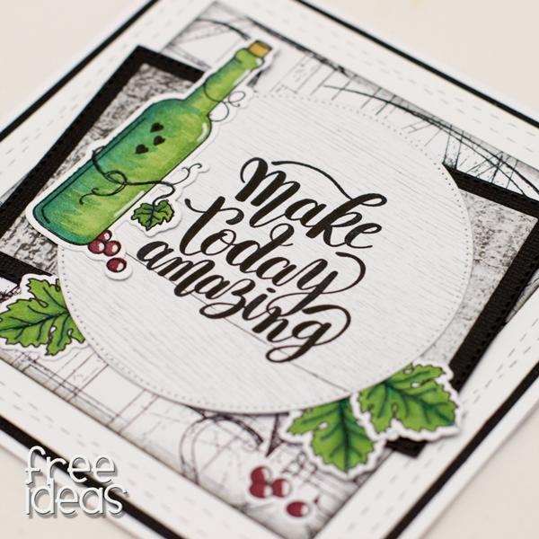 kartka z winem