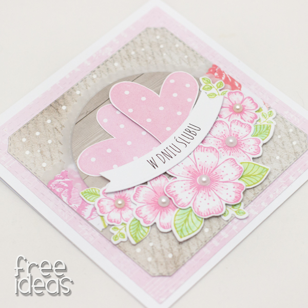 kartka ślubna serca