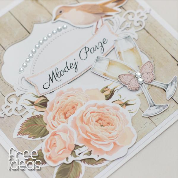 kartka ślubna róże