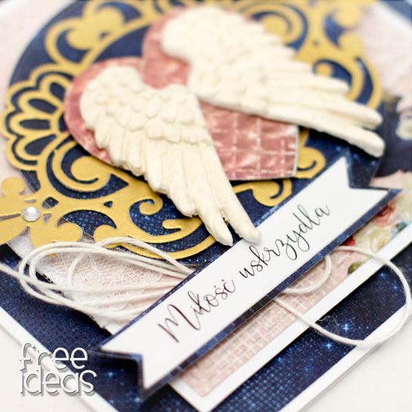 kartka ślubna skrzydła