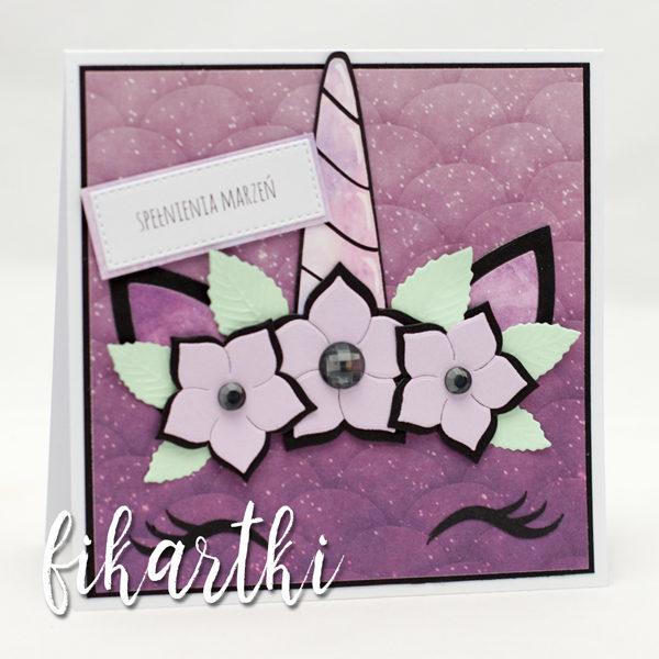 kartka urodzinowa z jednorozcem