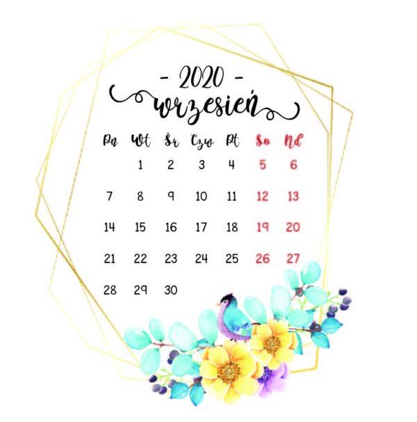 kartka z kalendarza wrzesie