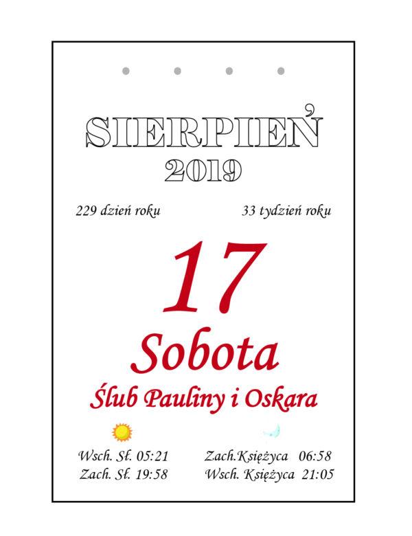 Kartka z kalendarza