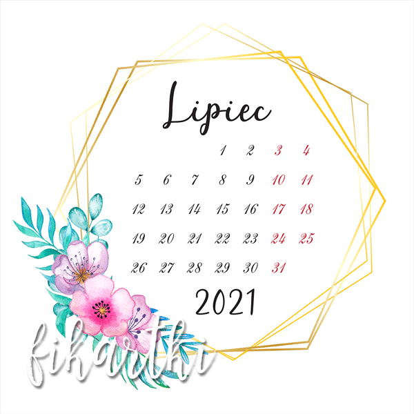 kartka z kalendarza do druku